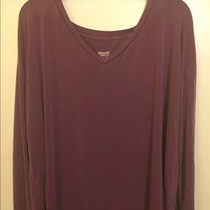 Mossimo Purple Long Sleeved Tee, XL